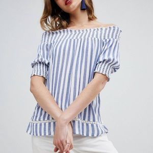 ASOS • Warehouse Stripe Cheesecloth Top